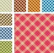 Tartan pattern - stock illustration