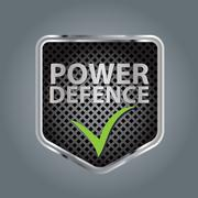Power defence - stock illustration