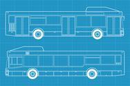 Bus blueprint Stock Illustration