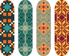 Skateboard designs Stock Illustration