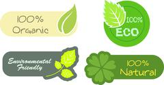 Stock Illustration of Eco Labels