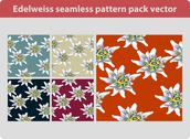 Stock Illustration of Edelweiss pattern pack