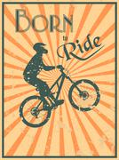 Born to ride Stock Illustration