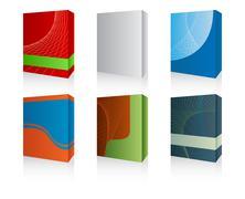 3d software box - stock illustration