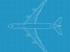 B747 - stock illustration