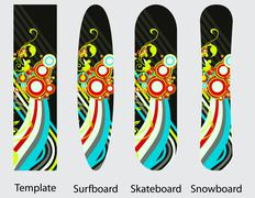 Boards design Stock Illustration