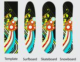 Stock Illustration of Boards design