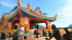 Chinese Temple of Viharn Sien. Stock Footage