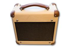 guitar amplifier isolated - stock photo
