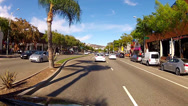Stock Video Footage of Driving On Santa Monica Boulevard In West Hollywood Weho- Los Angeles