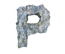 Stock Illustration of stone letter P