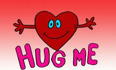 heart hug me background - stock illustration