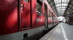 Leaving German S-Bahn Stock Footage
