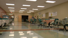 Walk Through Medical Center Dining Room - stock footage