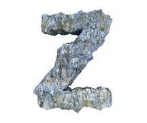 Stock Illustration of stone letter Z