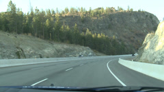 Stock Video Footage of drive plate, POV drive on hwy 97 medium over hill