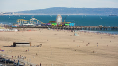 Santa Monica during the Day Stock Footage