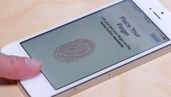 IPhone 5S Fingerprint Scanner 4137 Stock Footage