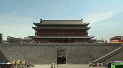 South gate of Xi'an city wall ,xian,shaanxi,China Stock Footage