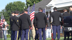 Honor guard soldier memorial service Stock Footage