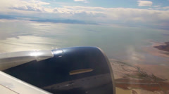Flying over Salt Lake Stock Footage