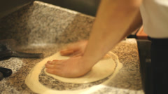 Making dough for crackers - stock footage