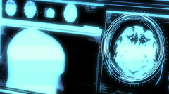 Futuristic Brain Scanner 4138 Stock Footage