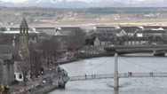 Stock Video Footage of Inverness Scotland March 1st 2014