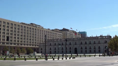 1275 Government house in chile, La Moneda Stock Footage