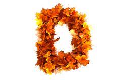 Fall  alphabet letter D Stock Illustration