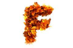 Stock Illustration of Fall  alphabet letter F
