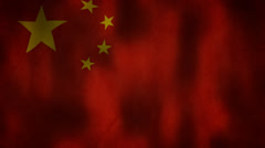 Waving flag of the peoples republic of china HD Stock Footage