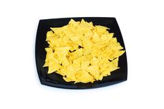 Mexican traditional food - corn chips on white Stock Photos