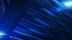 Breaking News Style Lens Flares Abstract Dark Blue Background Stock Footage