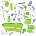 Stock Illustration of Bathroom Vector Digital Clipart