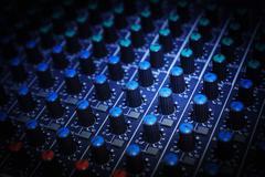 Osa valvonta audio mikserin Kuvituskuvat