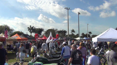 Vintage motorcycle show in Fort Lauderdale, FL Stock Footage