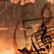 music grunge backgrounds - stock illustration