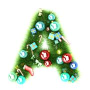 Cristmas alphabet letter Stock Illustration