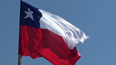 1258  Big Chilean Flag Stock Footage