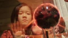 Fireball inside a glass case - stock footage