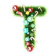 Cristmas alphabet letter Stock Illustration