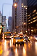 Chicago Rush Hour in the rain Stock Photos
