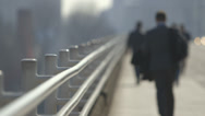 Stock Video Footage of Soft focus commuters walking