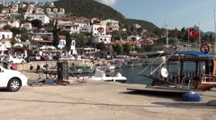 Small harbor in town 5 Stock Footage
