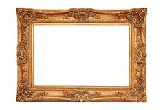 Gilt frame in ancient style Stock Photos