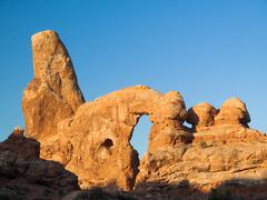 Turret Arch in Morning Light - stock photo