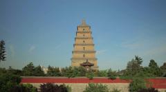 Greater Wild Goose Pagoda /xian,shaanxi,China Stock Footage