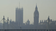 Westminster (Houses of Parliament, Big Ben) - London Stock Footage