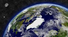 Stock Illustration of arctic region on planet earth
